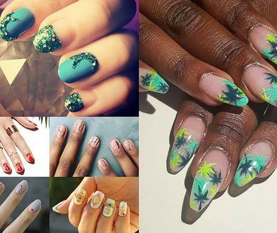 Kolorowe motywy na paznokciach to świetny pomysł na lato (Fot. misspopnails, holdengrace6, cndworld)