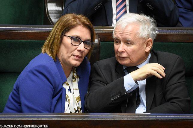 Beata Mazurek powiedziała, że nikt nie kontaktował się z Jarosławem Kaczyńskim