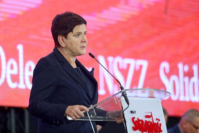 Beata Szydło skomentowała kolizję rządowego samochodu