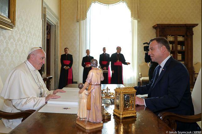 Prezydent Andrzej Duda spotkał się z papieżem Franciszkiem w Watykanie
