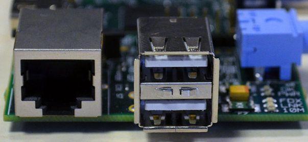 Złącze Ethernet i USB (wer. B)
