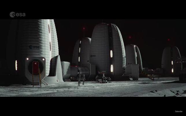 Jak mogłaby wyglądać baza na księżycu? Jest pewna wizja