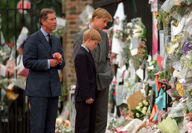 Książę Karol z synami po śmierci Diany