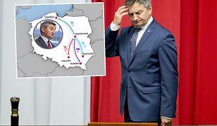 Marek Kuchciński i jego loty. Wykaz budzi wątpliwości