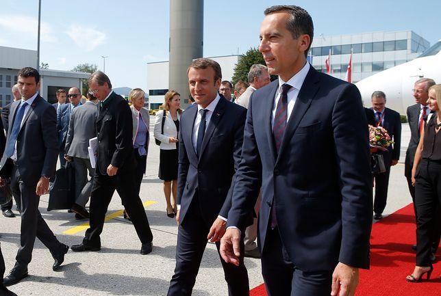 Kanclerz Kern przywitał prezydenta Macrona w Austrii