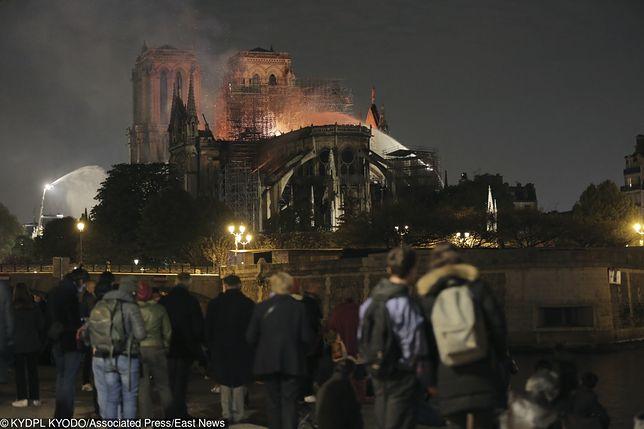 Pożar katedry Notre Dame w Paryżu. /EastNews