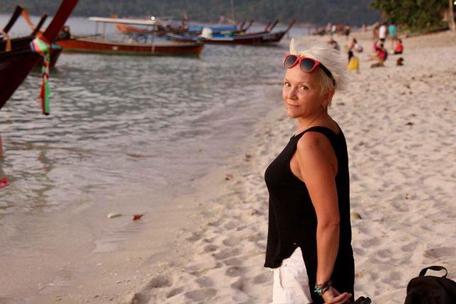 Małgorzata Ostrowska na wakacjach