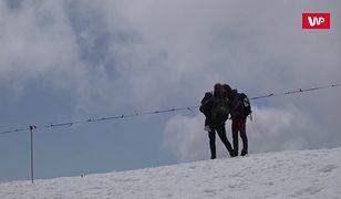 Na Kasprowym Wierchu wciąż pełno śniegu. Na wiosnę trzeba trochę poczekać