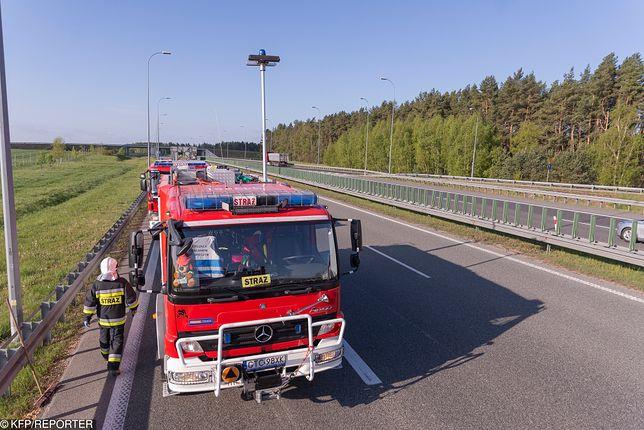 Wypadek na S7.