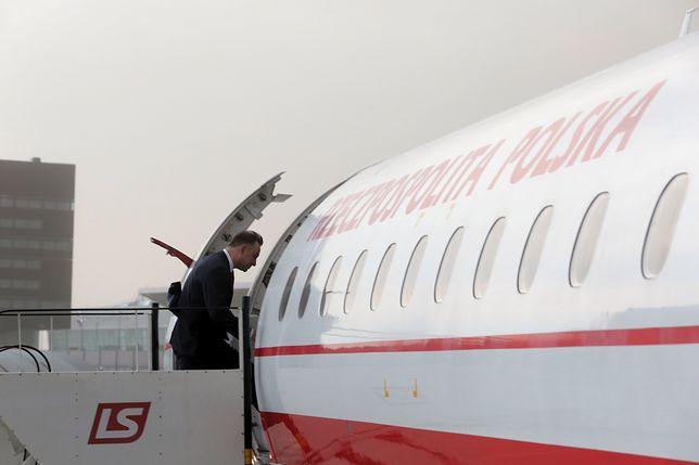 Prezydencki samolot nie mógł wystartować. Powodem nawałnica nad Warszawą