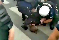 """""""Brutalna akcja policja"""". Jest nagranie z blokady marszu nacjonalistów"""