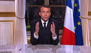 Macron znowu to zrobił. Składał życzenia Francuzom, ale przy okazji wbił szpilę Polsce.