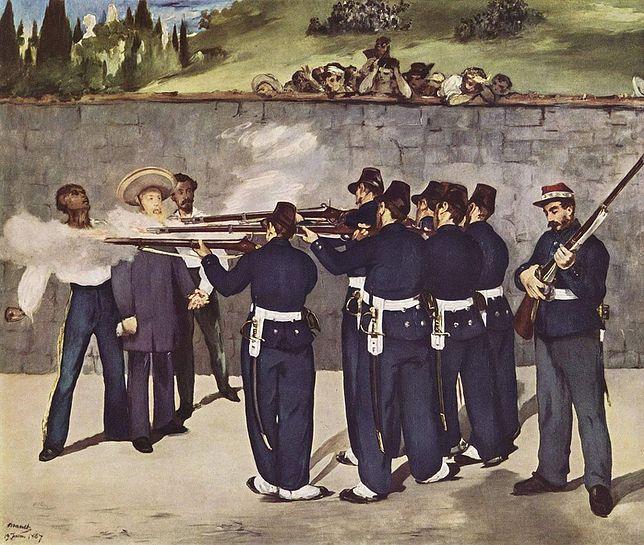 """Obraz Édouarda Maneta """"Rozstrzelanie Maksymiliana"""""""