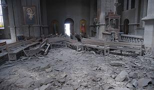 Górski Karabach. Dziennikarze ranni po ostrzale katedry Ghazanchetsots