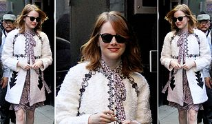 LOOK OF THE DAY: Emma Stone na Manhattanie