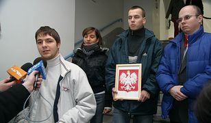 Happening Młodych Konserwatystów - Opole 2006. Na pierwszym planie Patryk Jaki (Foto: Rafał Mielnik)