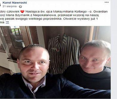Dyrektor MIIWŚ Karol Nawrocki pochwalił się zdobyciem pasiaka na swoim FB