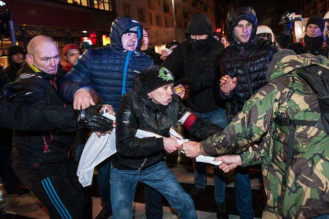 Przepychanki we Wrocławiu w czasie obchodów 11 listopada