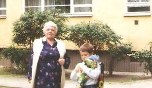 Pani Marianna razem z wnuczkiem Michałem
