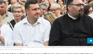 Poseł PiS Łukasz Zbonikowski na religijnej imprezie we Włocławku