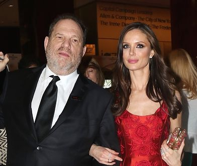 Harvey Weinstein z żoną Georginą Chapman