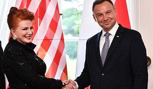 Georgette Mosbacher złożyła na ręce prezydenta listy uwierzytelniające