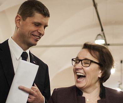 Obecny i były szef MEN - Dariusz Piontkowski i Anna Zalewska.