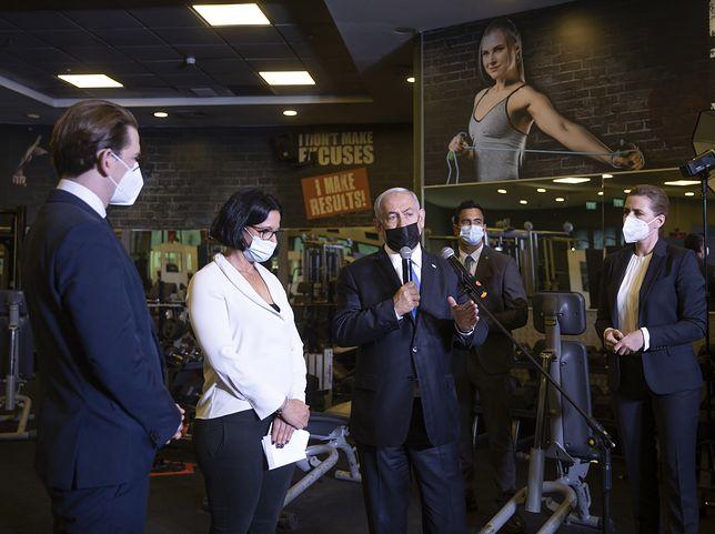 Koronawirus. Premier Izraela zabrał kanclerz Austrii i szefową rządu Danii na siłownię