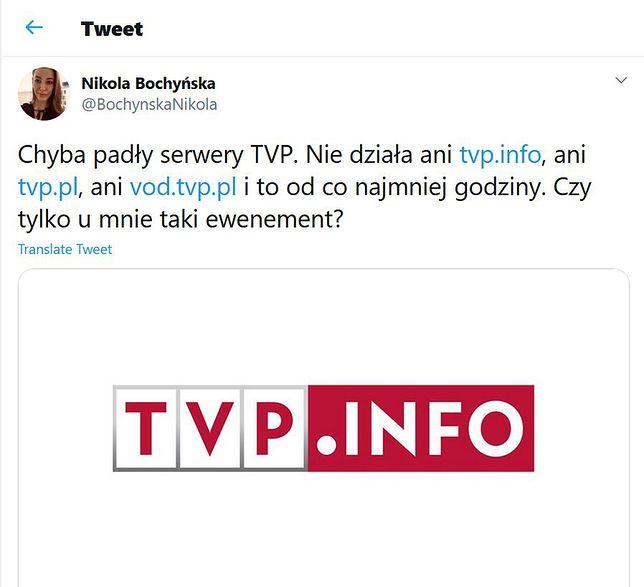Na problemy z odbiorem TVP w sieci skarżyli się użytkownicy Twittera