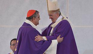 Kardynał Crescenzio Sepe z papieżem Franciszkiem