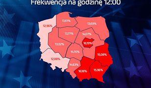 Wybory do Europarlamentu 2019. Frekwencja w południe wyniosła 14,39 proc.
