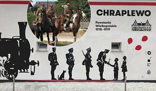 Mural upamiętniający powstanie sprzed lat
