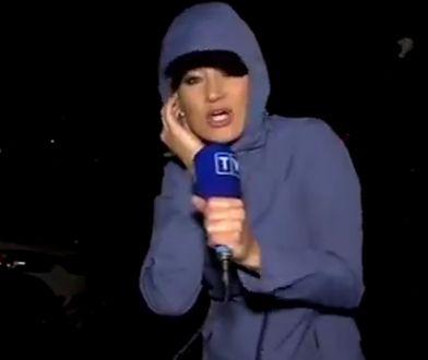 Trudna relacja korespondentki TVP Info z Florydy. Wiatr o mało jej nie przewrócił