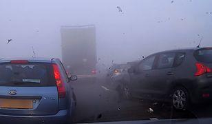 Karambol spowodowany przez mgłę