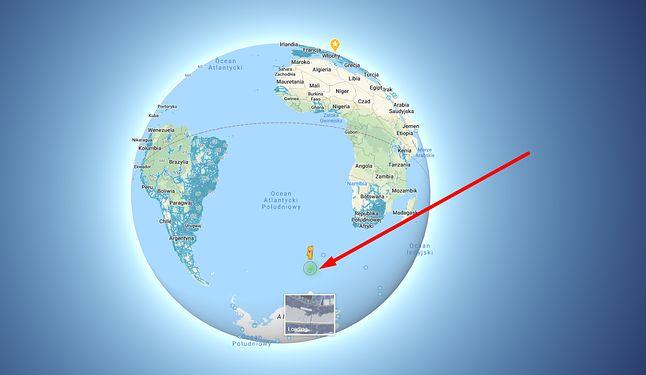 Niecodzienny widok w Street View kryje się w tym miejscu, źródło: Mapy Google.