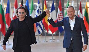 """Donald Tusk spotkał się z Bono. W tle """"Konstytucja"""""""