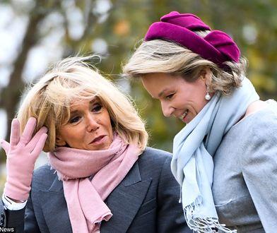 Stylizacje Brigitte Macron i królowej Matyldy