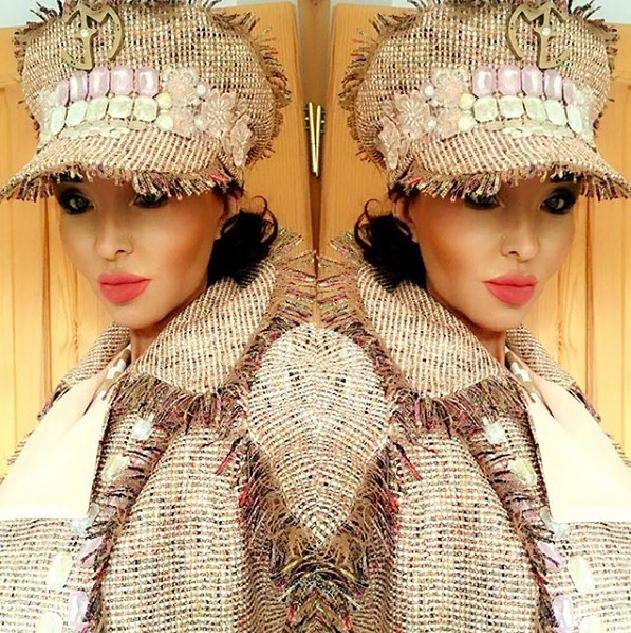 Ewa Minge w jesiennej stylizacji