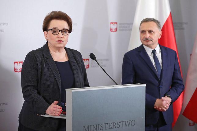 Minister Anna Zalewska i wiceminister Maciej Kopeć