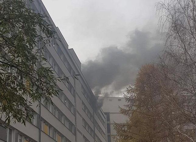 Szpital w Katowicach z powodu pożaru poniósł spore straty.