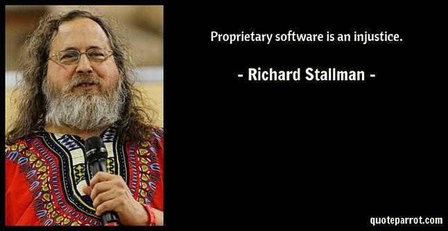Motto życiowe Richarda M. Stallmana.