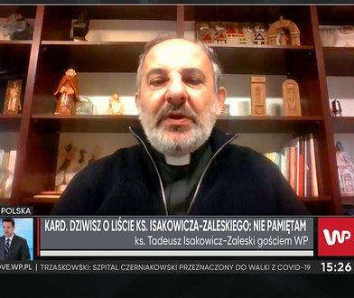 """Ks. Isakowicz -Zaleski komentuje głośny wywiad kardynała Dziwisza. """"Zdaje sobie sprawę, że powstanie trzeci film"""""""