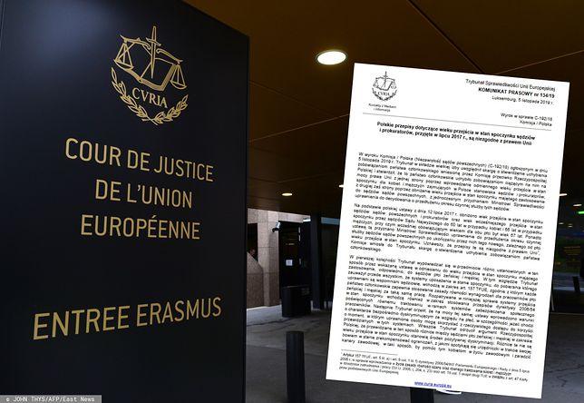 Luksemburg. Trybunał Sprawiedliwości orzekł, że Polska złamała prawo unijne