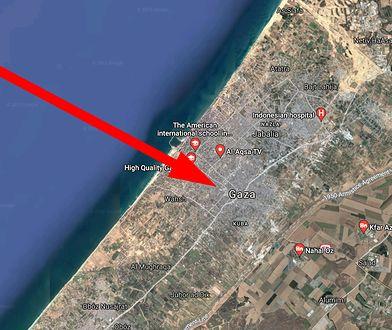 Strefa Gazy w Mapach Google. Obraz jest zamazany, choć już nie musi