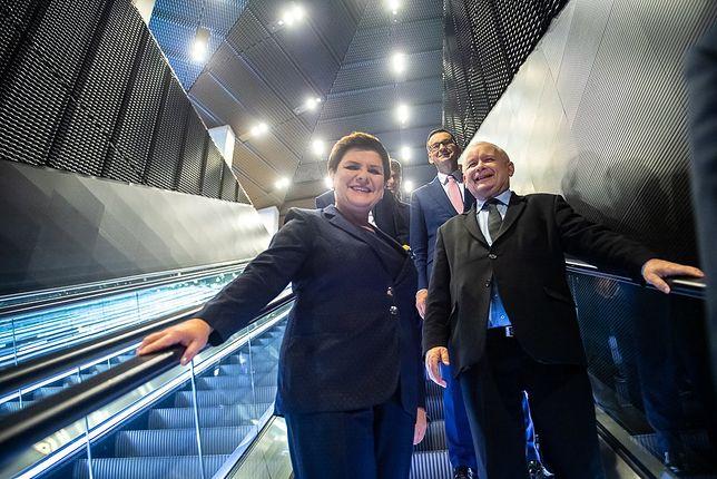 Wybory parlamentarne 2019. Liderzy PiS. Fot.: Andrzej Hrechorowicz
