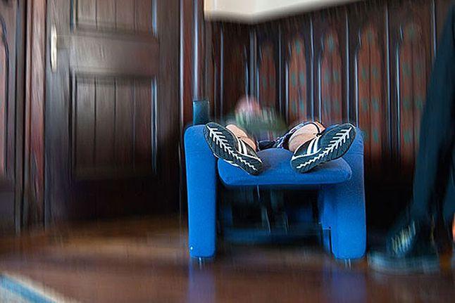 Fotel do masażu w jaskini Loży Szyderców
