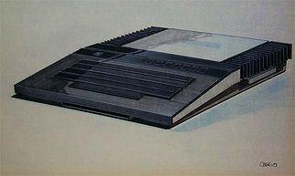 Koncepcja Atari 1200 z radiatorem na bokach obudowy. Rys. Regan Chang.