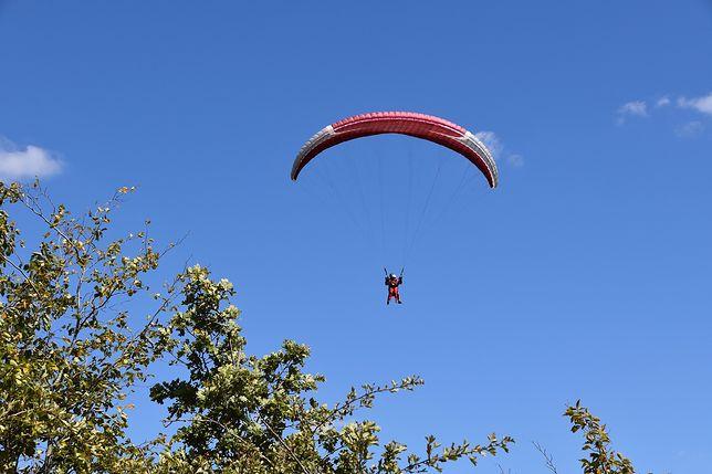 Śląskie. Paralotniarz zahaczył o drzewo i spadł z kilku metrów.