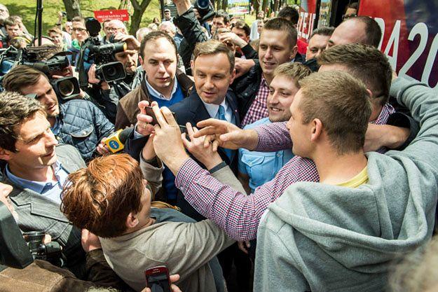 Andrzej Duda podczas spotkania z mieszkańcami Kruszwicy
