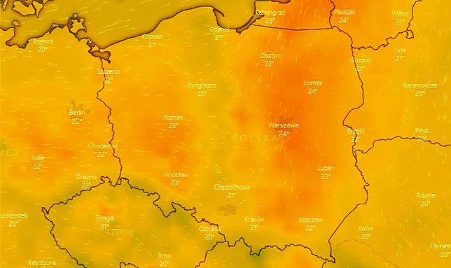 Pogoda. W strefie burz - w środkowej Polsce - będzie najchłodniej